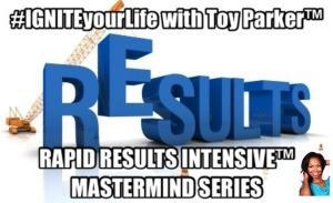 rapid results intensive mastermind series cover with pic of Toy